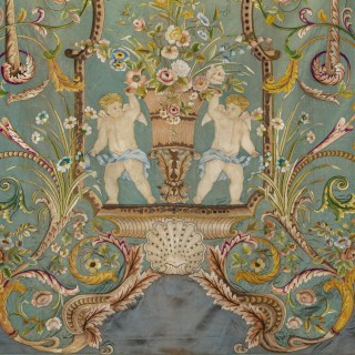 A Large and Impressive Chinese Embroidered Silk Hanging