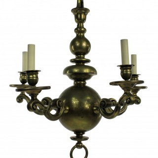 A FLEMISH CHANDELIER IN BRASS