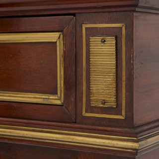 Two large Russian gilt bronze mounted mahogany bookcases