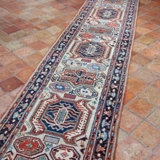 Narrow Antique Heriz runner