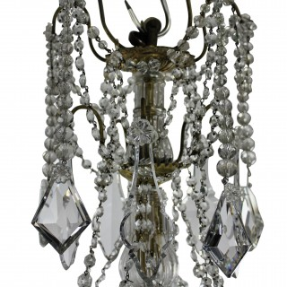 A 19TH CENTURY ORMOLU & CUT GLASS SIGNED BACCARAT CHANDELIER