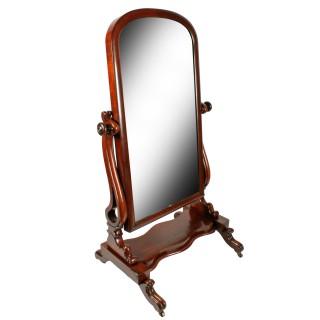 Victorian Mahogany Cheval Mirror