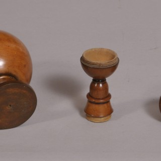 Antique Treen 18th Century Boxwood Spice Shaker