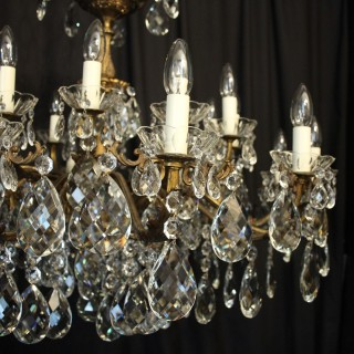 Italian 24 Light Double Tiered Antique Chandelier
