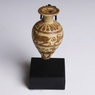 Corinthian Aryballos with Hunting Scene