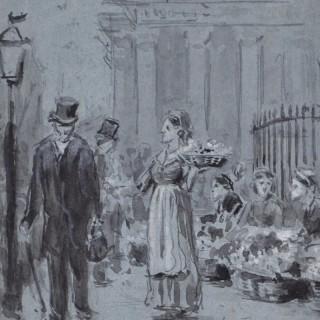 George Goodwin Kilburne - London Flower Seller