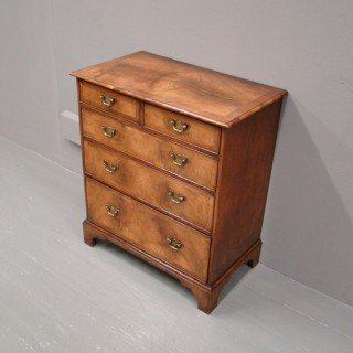 George III Style Walnut Chest of Drawers