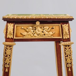 A Fine Pair of Louis XVI Style Gilt-Bronze Mounted Mahogany Stands