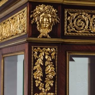 A Fine Louis XVI Style Gilt-Bronze Mounted Vitrine