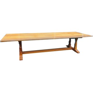 Handmade Oak Dining Table or Boardroom Table by Beaverman