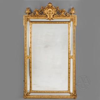 A Fine Louis XVI Style Marginal Frame Mirror