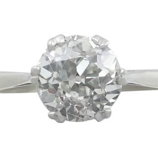 2.31 ct Diamond and Platinum Solitaire Ring - Antique Circa 1910