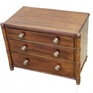 Regency Mahogany Miniature Chest Of Drawers