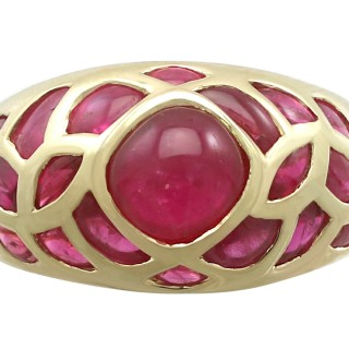 2.80 ct Ruby and 18 ct Yellow Gold Dress Ring - Contemporary Circa 2000