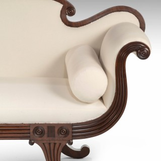 A Mahogany Framed Regency Period Sofa