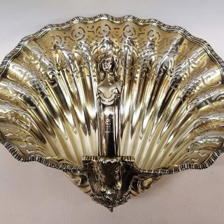 Antique Silver Shell Dish