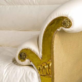 A Regency Style Giltwood Sofa