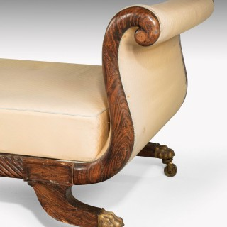Regency Period End Support Sofa With Elegant Swan Neck Uprights