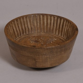 Antique Treen 19th Century Sycamore Flummery Mould