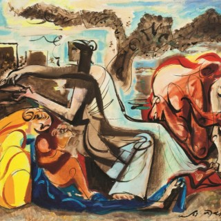 Le Miel et Le Lait  by  André Masson (1896 – 1987)
