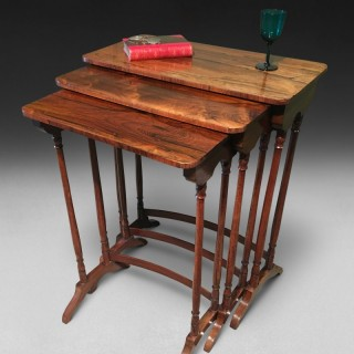 Early Regency period Nest of 3 Rosewood Tables