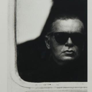Original self portrait photograph by Karl Lagerfeld
