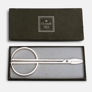 Christofle Modernist Silver Grape Scissors 1960's