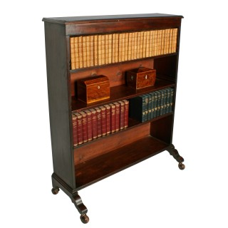 Georgian Mahogany Open Bookcase