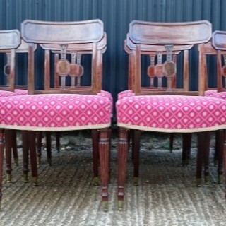 Set of Twelve Early Nineteenth Century George III Mahogany Antique Dining Chairs