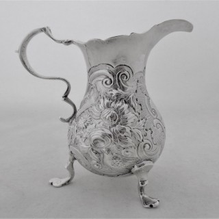 Good George II silver cream jug London 1750 Dorothy Mills & Thomas Sarbitt