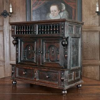 Charles II oak table cupboard