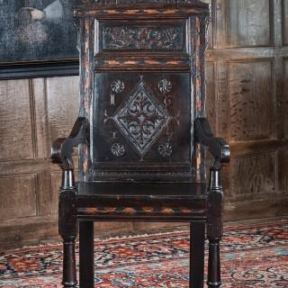 James I oak armchair