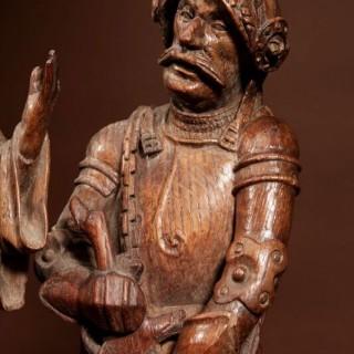 An Original Signed JAN BORMAN II ( JAN BORMAN de jongere ) Oak Sculpture