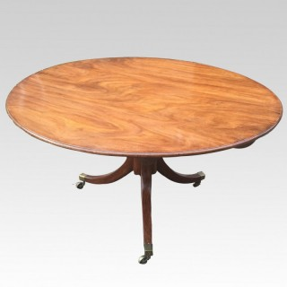 Fine George III period mahogany circular dining table