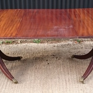 Early 19th Century George III Period Mahogany Twin Pedestal Antique Dining Table