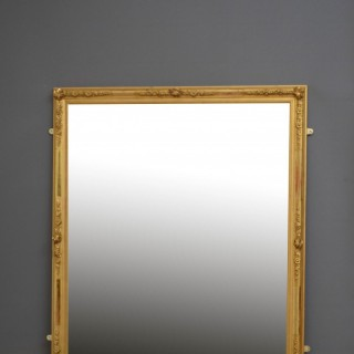 LARGE 19TH CENTURY FRENCH WALL MIRROR