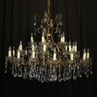 Italian Gilded 36 Light Antique Chandelier