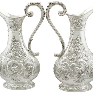 Sterling Silver Jugs - Antique Victorian