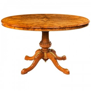 Burr walnut and ormolu mounted centre table