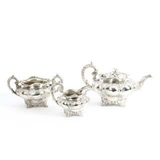 Antique English William IV Silver Tea Set Edward Bernard & Sons London 1833