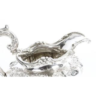 Antique English William IV Silver Tea Set Edward Bernard & Sons London 1833