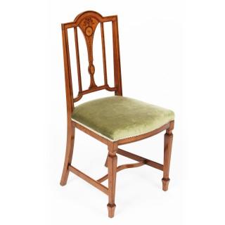 Antique Victorian Satinwood Side Desk Chair c.1880 19th Century
