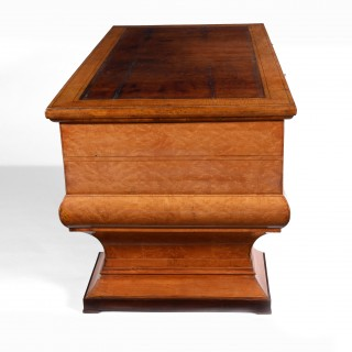 Rare Maple Wood Desk of Unusual Neo-Classical Form After Josef Danhauser