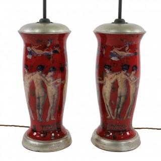 PAIR OF DECLAMANIA LAMPS