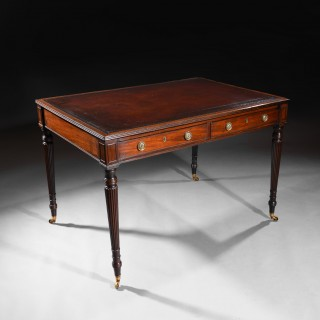 Gillows Late George III Mahogany Partners Writing Table