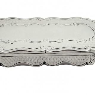 Antique Victorian Sterling Silver Snuff Box 1847