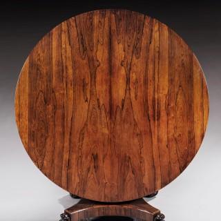 Circular 19th Century Rosewood Tilt-Top Dining Table