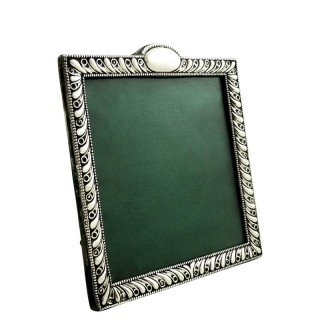 Antique Edwardian Sterling Silver Square Photo Frame 1901