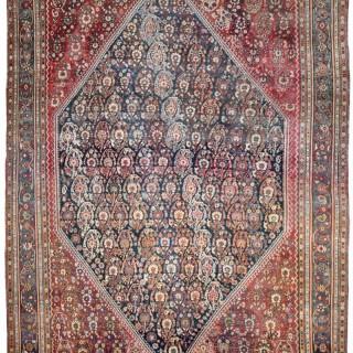 Antique Qashqai Kashkuli rug