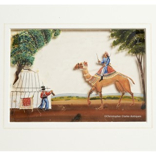 Mica Panting Camel Approaching Camp A With Sepoy - HEIC School